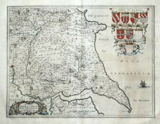 Railways Moule C1840 Easy To Use Hand Coloured Yorkshire East Riding Antique County Map