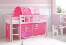 Kinder-Bettgestelle ohne Matratze aus Kiefer zum Zusammenbauen in Rosa