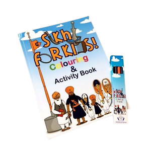Sikhi for kids colouring and activity book includes Free colouring pencils