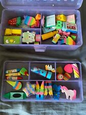 BRAND NEW Lot of 40+ Various Erasers