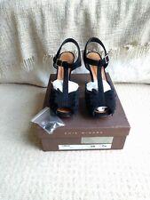 Chie Mihara Omizu leather BLACK suede heels size 39 UK 6