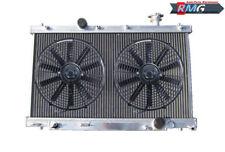 2Row Aluminum Radiator For 2002-2005 Honda Civic Si SiR 2.0L K20A3 2003 2004+Fan