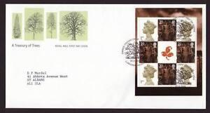 29025) UK 2000 FDC A Treasury Of Trees Prestige S/S