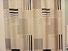 new Black~ white Geometric Fabric SHOWER CURTAIN Chevrons~Stripes~Zig Zags Waves