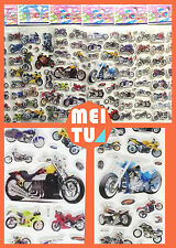 Children Stereoscopic motorcycle Stickers-Lot Of 6 pcs Kids favorite gift