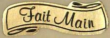 15 Etiquettes autocollantes stickers cadeaux  FAIT MAIN  Dorée - Ref ER8