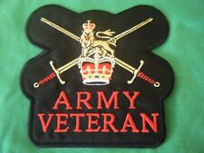 BRITISH ARMY SEW ON / IRON ON VETERANS PATCH,  - GREAT DESIGN AND DETAIL. 100MM