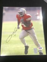 🔥Santonio Holmes Signed OSU Ohio State Buckeyes 8x10 Photo PSA COA Autograph