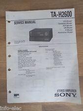Schema SONY - Service Manual Stereo Amplifier TA-H2600 TAH2600