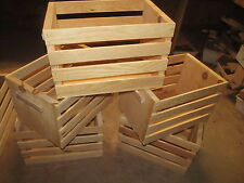"""ROUGH SAWN PINE WOODEN CRATE ~18 X 12 X 12"""""""