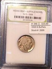 1920 D Buffalo Nickel - Lower Grade - Look At The Photos