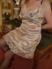 Silky Smooth Liquid Gold Very Lacy Full Slip Petticoat XL BNWT