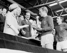 Bobby Moore Receives The World Cup From The Queen 1966 10x8 Photo