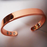 Magnetic Copper Bracelet Healing Therapy Arthritis Pain Relief Bangle Cuff Gift