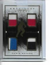 2014 15 Panini Anthology! Denis Savard! 3 Jerseys! 3 Colors! 1 Stick! /99!