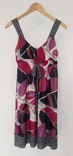 Weston Wear - Anthropologie   Pink Leaves Geometric Ribbon Babydoll Dress Sz XS
