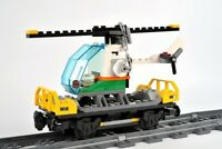 LEGO Train Carriage Helicopter Wagon Railway Car For Cargo City Set 60198 60052