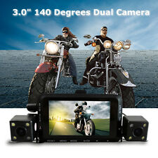 "3.0"" LCD Motorcycle Motorbike Biker Action DVR Recorder HD Video Dual Camera"