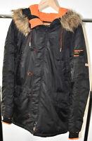 Mens Superdry Flight Project Jacket Thick Winter Parka Medium READ DESCRIPTION
