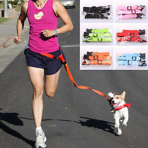 Hands free Dog Lead Walking Running Belt Jogging Waist Pet Leads Tranning Leash