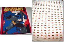Lot 2 Super Heros Batman Bedding Items Batman Coverlet & Youth Sheet