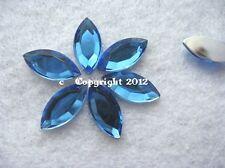 20 pedrería semipreciosas spitz ovalada azul 7 x 15mm no HotFix baseln