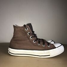 Converse Hi-Tops Size 4 Brown & White Converse All Stars