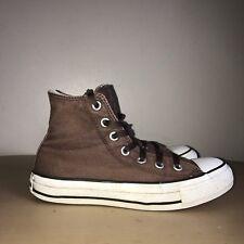 Converse Hi-Tops Size 4 Brown & White Converse All Stars