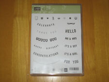 Stampin up Any Occasion clear mount rubber stamp set