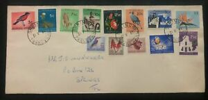 1961 Springs South Africa Colorful Stamps cover Domestic Used B