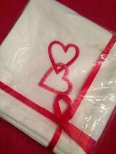 New listing Vintage*Valentine Heart Cocktail Napkins*10�sq*cotton*^n ee