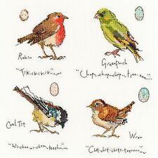 Bothy Threads Garten Vögel 1 Robin Zaunkönig Grünling Kreuzstich Set - NEU