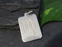 Moderner 925 Silber Anhänger Sternzeichen Tierkreiszeichen Virgo Jungfrau Edel