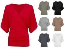 3/4 Sleeve Blouses Draped Tops for Women