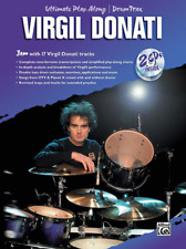 """""""Virgil Donati"""" Ultimate Play-Along/DrumTrax-MUSIC BOOK/2 CDs-DRUMS-NEW ON SALE!"""