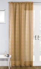 HOXTON Geometric Print Voile Net Thin Curtain Ready Made Slot Top Single Panel