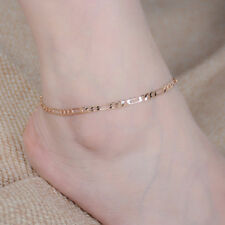 Simple Delicate Unisex Alloy Curb Cuban Link Anklet Foot Chain Jewelry Wa
