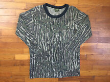 vtg Spartan RealTree Camo Long Sleeve T-Shirt men's LARGE l/s made in usa 7418