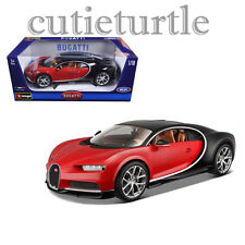 Bburago 2016 Bugatti Chiron 1:18 Diecast Model Car 18-11040 Red Black