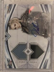 2020 Topps WWE Undisputed Natalya Autograph Dual Match Used Relic /99