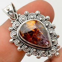 Cacoxenite Super Seven 7 Mineral 925 Sterling Silver Pendant Jewelry AP59384