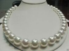 "AAA++ RARE 11-12MM WHITE SOUTH SEA PEARLS NECKLACE 18"" 14K YELLOW GOLD"