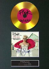 #158 P!NK Beautiful Trauma GOLD CD Signed Autograph Mounted A4