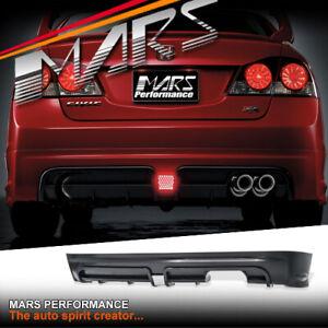 Mugen RR Style Single Exhaust Outlet Rear Bumper for Honda Civic FD Sedan 06-12