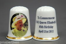 H.M Queen to Commemorate 85th Birthday 2011 China Thimble B/141