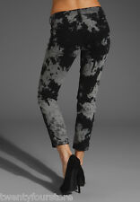 Current Elliott Jeans The Stiletto Skinny in Smokestack Python Black Gray 24 25
