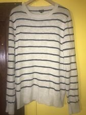 J. Crew Crew neck Sweater Men's Size Large Striped Casual 100% Cotton C4