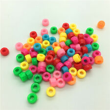 50pcs Mixed Colors Acrylic Perforation Beads DIY Jewelry Making #40