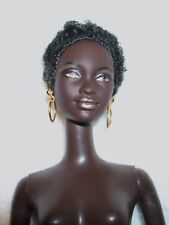 NUDE-Barbie-56218-Head Mold:Mbili-Body Type:Twist 'n Turn-Hair:Black-AA-039