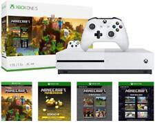 Xbox One S 1TB White Console Minecraft Creators Bundle 4K Ultra HD Blu-ray NEW